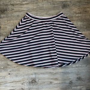 Hollister red, white, blue skater style skirt